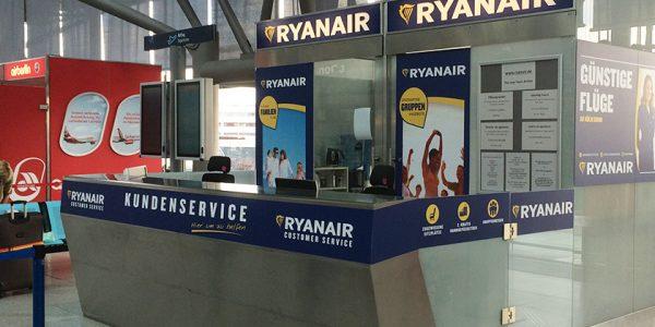 Ryanair – Betreuung der Werbeflächen an diversen Flughäfen